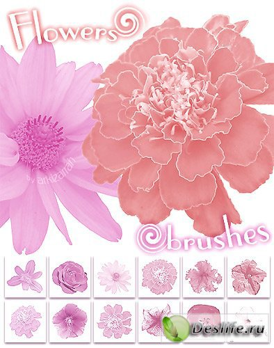 Flower's - кисти для фотошопа