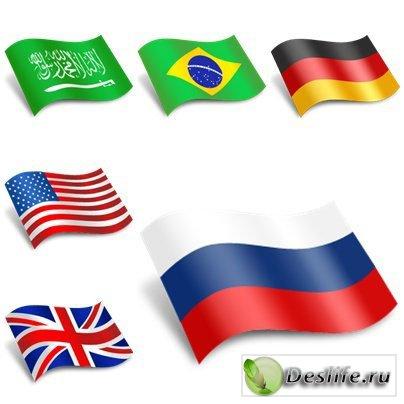 Флаги америки — описание фото цвета
