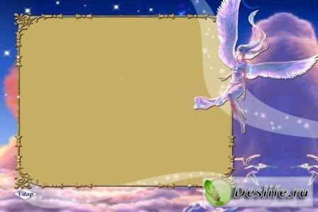 Рамка для фотошопа – Девушка-ангел