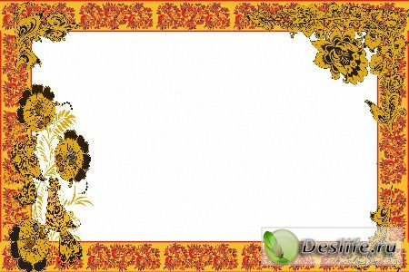 Рамка для фотошопа – Мотивы хохломы