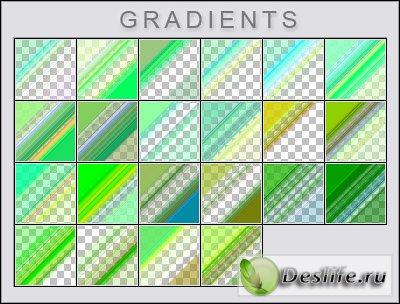 Зелёные прозрачные градиенты