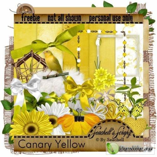 Скрап-набор – Canary Yellow / Жёлтая канарейка