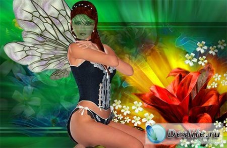Фея среди цветов - Костюм для фотошопа