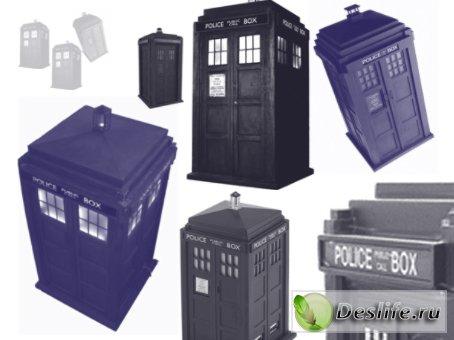 Кисть для Photoshop - TARDIS из Doctor Who (Тардис из Доктор Кто)