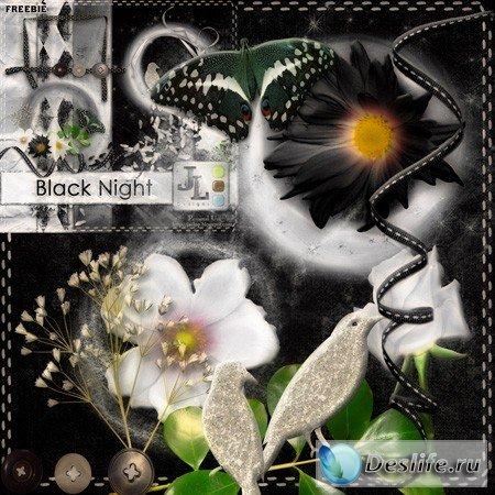 Скрап-набор – Black night / Тёмная ночь