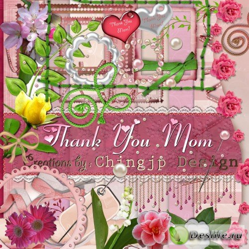 Скрап-набор – Thank You Mom