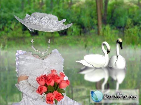 Дама у пруда - Костюм для фотошопа