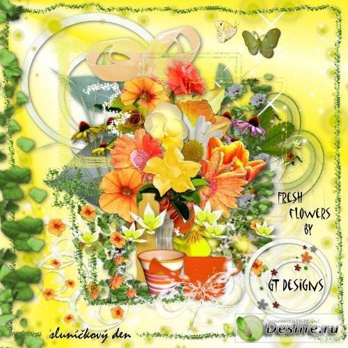 Скрап-набор – Fresh flower