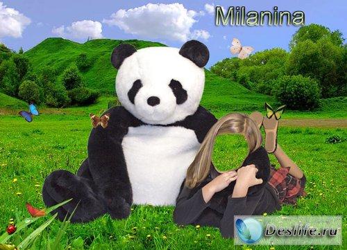 Девочка с медведем - Костюм для фотошопа