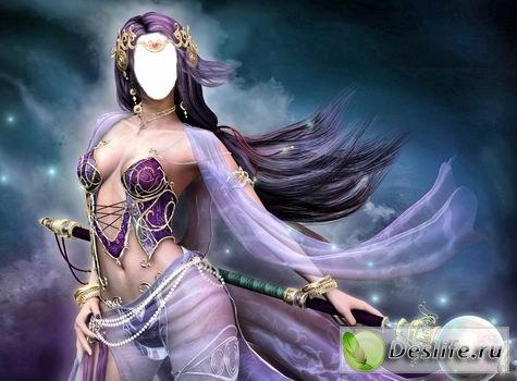 Девушка-богиня - Костюм фэнтези для фотошопа