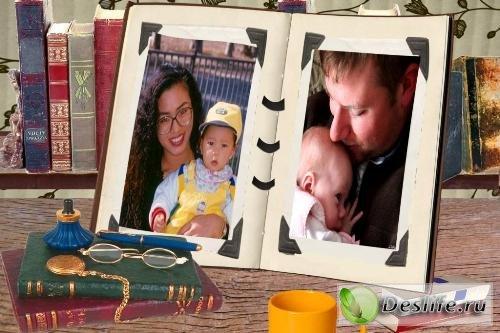 Рамка для фотошопа – Семейный альбом