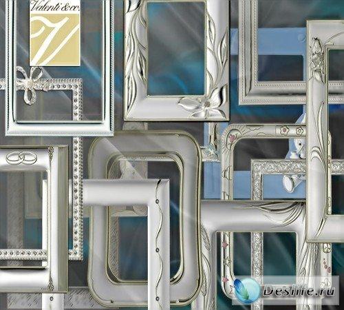 Клипарт – Cеребряные рамки от Valenti