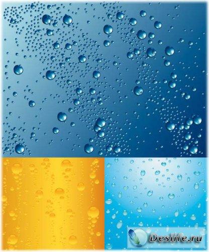 Капельки воды и пузырьки в пиве
