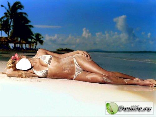 Девушка на пляже - Костюм для фотошопа