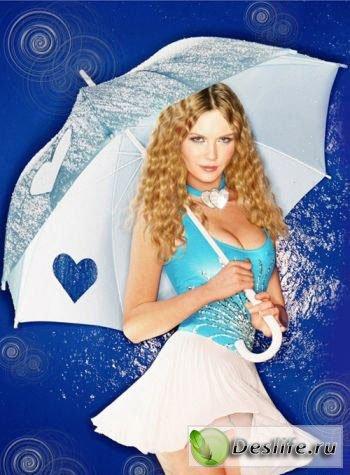 Девушка с зонтиком - Костюм для фотошопа