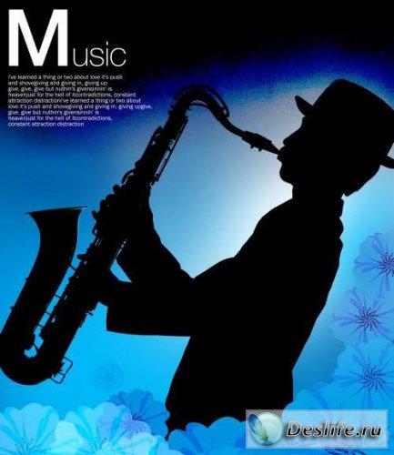 Music - PSD исходник для фотошопа