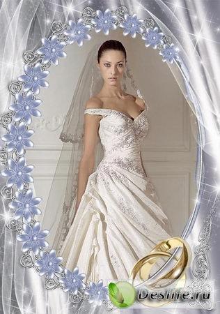 Свадебный Гламур - Рамка для фотошопа