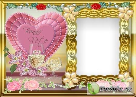 Любовь - Рамочка для фотошопа