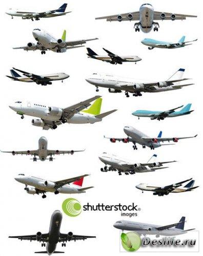 Гражданские самолеты - Растровый клипарт