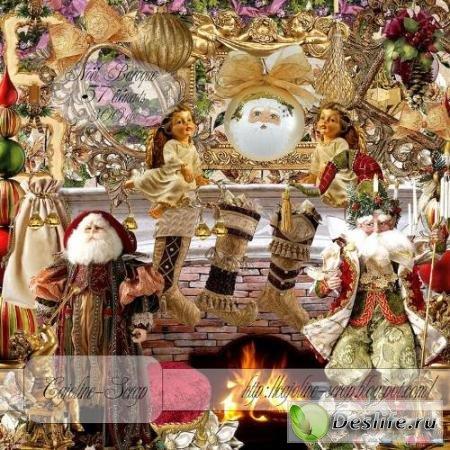 Скрап-набор – Baroque Christmas / Рождество барокко