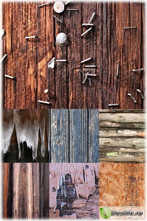 Текстуры старого необработанного дерева