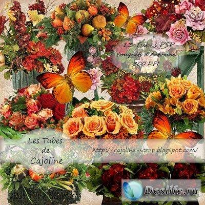 Скрап-набор – Autumn flowers / Осенние цветы