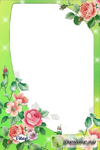 Рамка для фотошопа – Свет роз