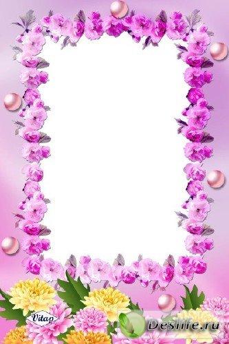 Рамка для фотошопа – Цветочная