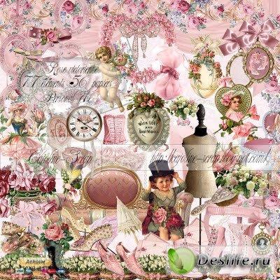 Скрап-набор – Викторианские розы