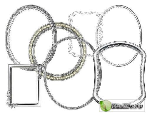 Клипарт – Рамки из серебра