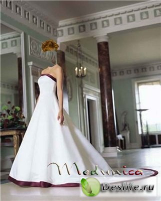 В платье на бал - Костюм для фотошопа
