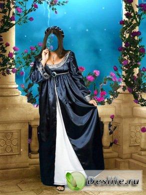 Средневековая дама - Костюм для фотошопа