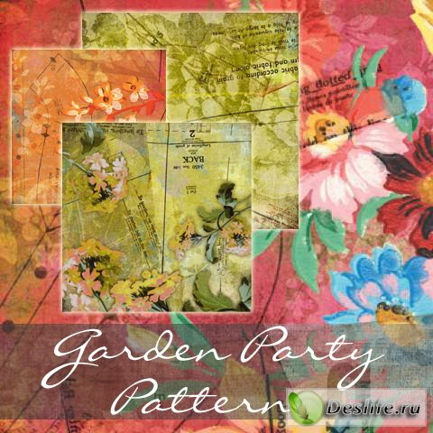 Garden Party Patterns - Набор красивых заливок