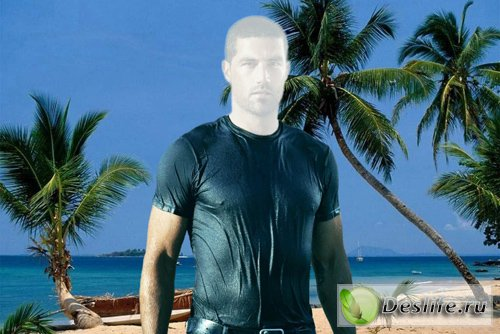 Парень на пляже - Костюм для фотошопа