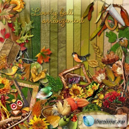 Скрап-набор – Lovely fall arrangement