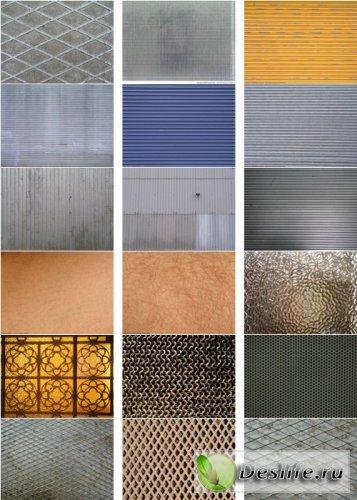 Текстуры - Металл, кожа, стекло, ткань