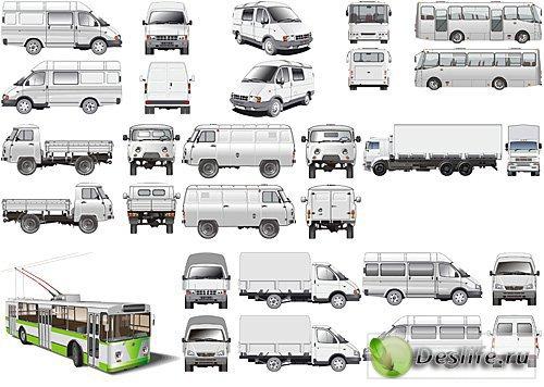 Векторный клипарт - Отечественный транспорт