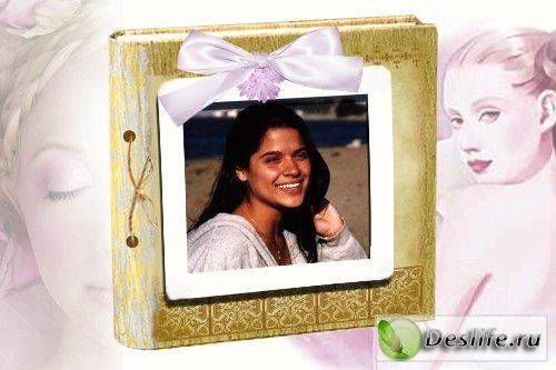 Рамка для фотошопа – фотоальбом Романтика