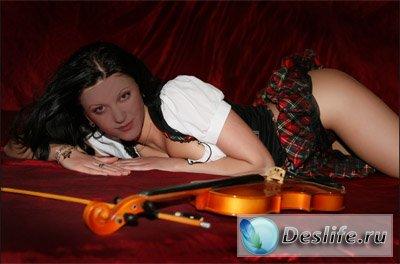 Скрипачка - Костюм для фотошопа