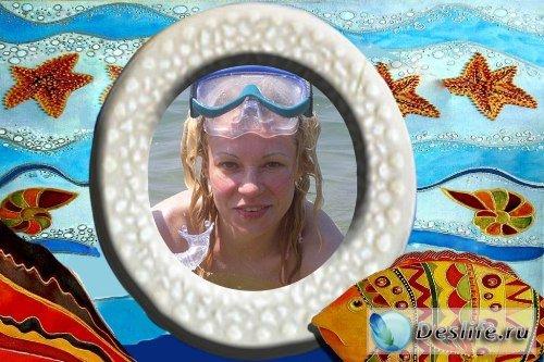 Рамка для фотошопа – Морское путешествие