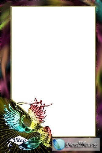 Рамка для фотошоп – Жар-птица