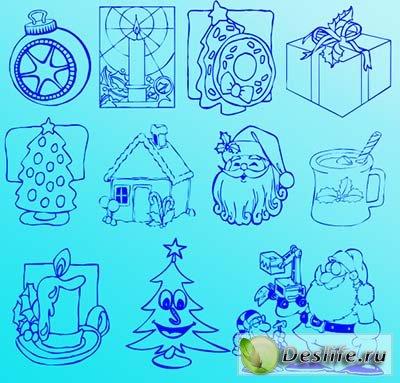 Фигуры для фотошопа - Рождественские
