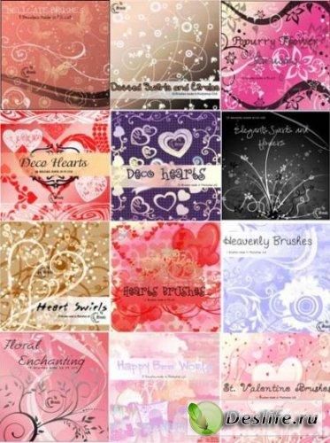 Набор качественных кистей для фотошопа: цветы, орнаменты, узоры