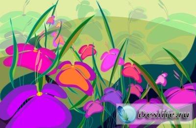 Красивые цветочные фоны-шаблоны для фото