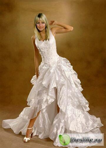 В белом платье - Костюм для фотошопа