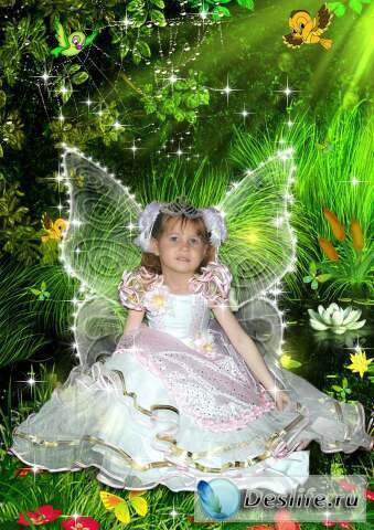 Девочка-фея - Костюм для фотошопа