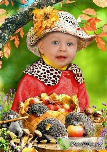 С ёжиками - Детский костюм для фотошопа