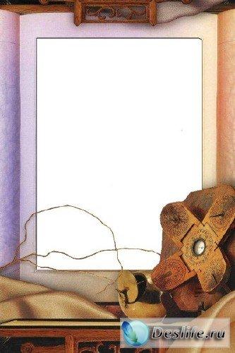 Рамка для фотошоп – Старая книга