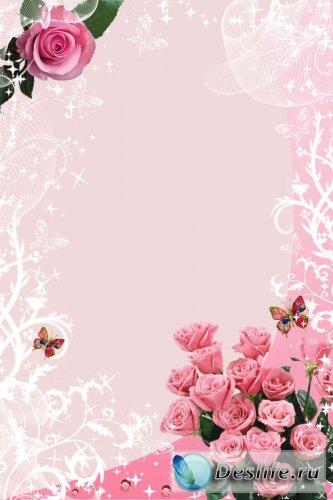 Романтичная - Рамка для фотошопа