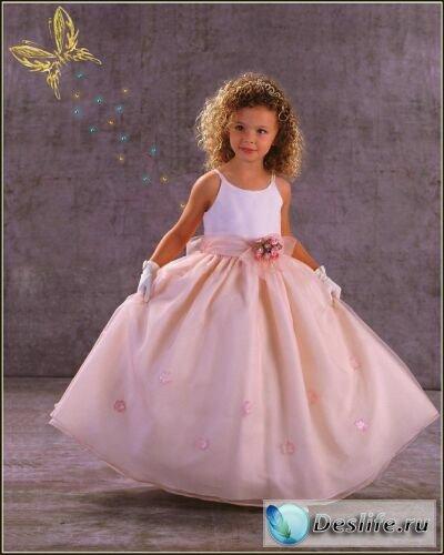 Девочка в розовом - Костюм для фотошопа